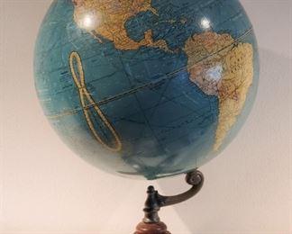 "Early 17"" Crams Universal Terrestrial Globe"