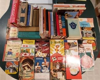 Lots of vintage cook books