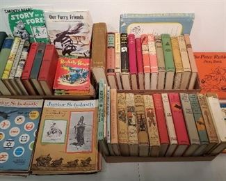Large lot of vintage children's books including My Book House set.