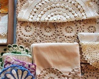 Vintage linens and needlework