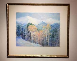 1970 Original Pastel Painting Lucile Short Stinson