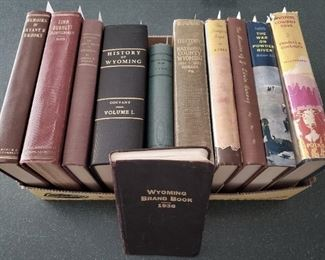 Rare Wyoming books. This is just a sample.