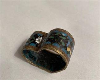 $  10.           C 111    Cloissone heart shape decorative ring