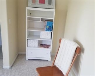 Maple side chair and a solid wood Shelving Unit