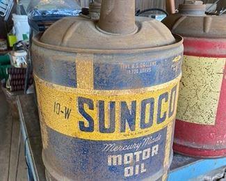 Sunoco Motor Oil can