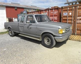 PIC #1 OF FOUR FORD 1989 F250 LIKE NEW RUBBER RUNS AND DRIVES GOOD NEEDS A LITTLE TLC BUT A GOOD TRUCK.