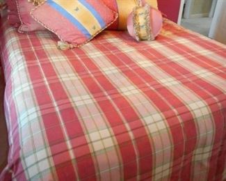 Queen Size Bed and linens