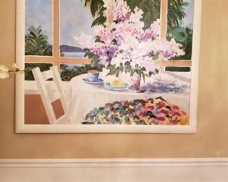 Ethan Allen canvas - 54x45in -