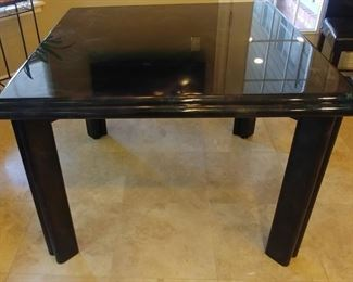 """50% OFF TODAY! Epoxy Breakfast Table Black with Mottled Multicolor Top 42"""" by 29.5"""" Asking $1,500.00"""