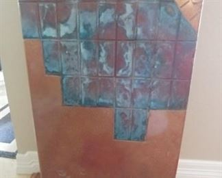 """50% OFF TODAY! Pedestal Southwest Style Copper and Verde Finish 14.25"""" by 36"""" Asking $750.00"""