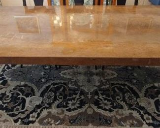 """50% OFF TODAY! Custom Marble Dining Table with Contemporary Tapered Legs 79"""" by 42"""" by 30"""" Asking $2,450.00"""