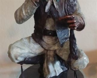 """50% OFF TODAY! Marie Barbera Bronze 'War in the White Man's Eye' 12"""" by 21"""" by 12"""" Asking $2,950.00 Certificate"""