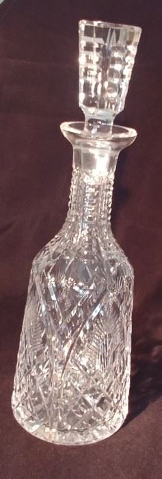 """50% OFF TODAY! Waterford Decanter 4"""" by 13"""" Asking $139.00"""