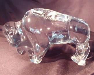 """50% OFF TODAY! Baccarat Bison 8"""" by 5.25"""" by 3"""" Asking $269.00"""