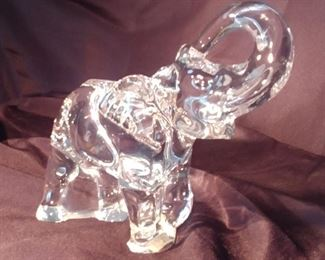"""50% OFF TODAY! Baccarat Elephant 7"""" by 6.5"""" by 3"""" Asking $279.00"""