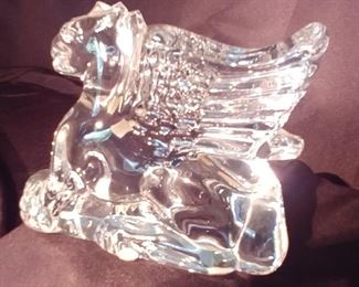 """50% OFF TODAY! Baccarat Griffon 5.5"""" by 4.5"""" by 2"""" Asking $499.00"""