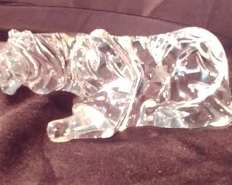 """50% OFF TODAY! Baccarat Tiger 5.75"""" by 2.25"""" by 2"""" Asking $279.00"""