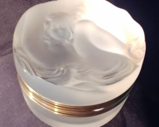 """50% OFF TODAY! Lalique Daphne Box 3.5"""" by 2"""" Asking  $329.00"""