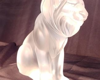 """50% OFF TODAY! Lalique Lion 8.5"""" by 8"""" by 3""""  Asking $1,799.00"""
