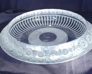 """50% OFF TODAY! Lalique Bowl 13.25"""" by 2.75"""" Asking $550.00"""