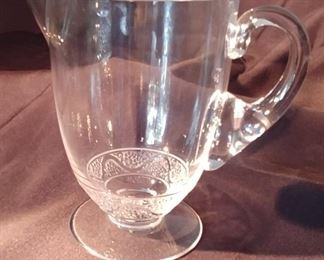"""50% OFF TODAY! Lalique Pitcher 8"""" by 7.5"""" by 5.25"""" Asking $175.00"""