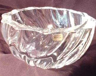 50% OFF TODAY! Crystal Bowl Kosta Asking $39.00