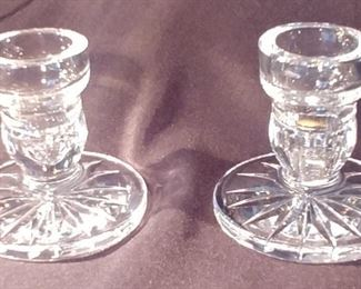 """50% OFF TODAY! Waterford Candle Sticks 3.5"""" by 3.5"""" Asking $39.00"""
