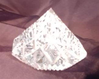 """50% OFF TODAY! Waterford Pyramid Paperweight 3.5"""" by 2.5"""" Asking $39.00"""