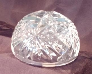 """50% OFF TODAY! Waterford Paperweight 3.5"""" by 2.5"""" Asking $39.00"""
