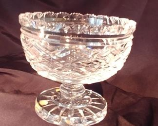 """50% OFF TODAY! Waterford Pedestal Bowl 10.5"""" by 9.25"""" Asking $129.00"""