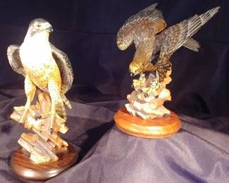 """50% OFF TODAY! Anri Eagles 7"""" by 8.25"""" by 5.75"""" & 5"""" by 10.25"""" by 5"""" Asking $199.00 for the pair"""