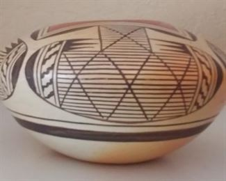"""50% OFF TODAY! Native American Southwest Hand Painted Migration Seed Jar Pottery by Elva Rampeyo 5.5"""" by 3.5"""" Asking $595.00"""