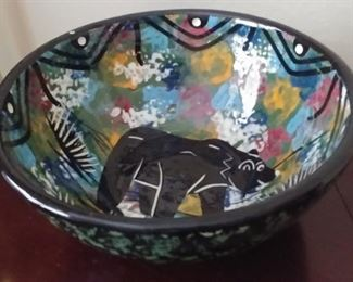 """50% OFF TODAY! Native American Pottery Hand Painted and Glazed by Sazi 9.75"""" by 4"""" Asking $250.00"""