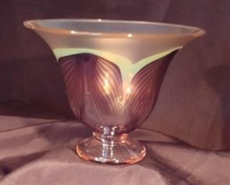 """50% OFF TODAY! Orient and Flume Glass Purple Signed 7.25"""" by 4.75"""" Asking $399.00"""