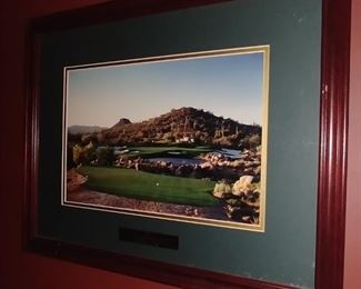 """50% OFF TODAY! 1997 Scottsdale Memorial Print Framed 21.5"""" by 17"""" Asking $125.00"""