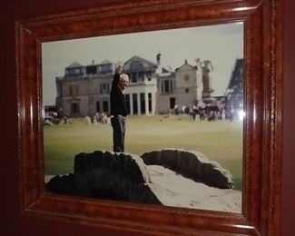 """50% OFF TODAY! Framed Picture of Arnold Palmer in Europe 25.5"""" by 21.5"""" Asking $225.00"""