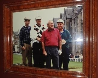 """50% OFF TODAY! Picture Arnold Palmer, Tom Watson, Jack Nicklaus and  Company in Europe 25.5"""" by 21.5"""" Asking $225.00"""