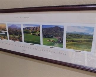 """50% OFF TODAY! Jack Nicklaus Signature Collection 2004 Desert Mountain Print Signed 39.75"""" by 13.75"""" Asking $199.00"""