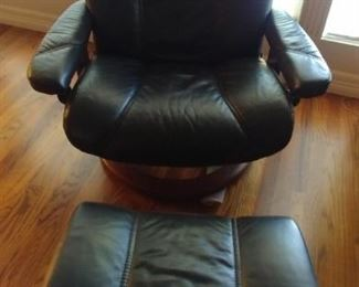 50% OFF TODAY! Contemporary Reclining Chair and Ottoman (B) Asking $895.00