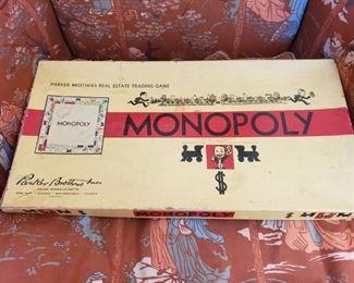 Rare 1954 monopoly board