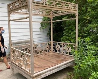 $500.00                                                                                                   Opium Bed - Hardwood - Easily Assembled - 15 pieces total. Rubber mallet is all you need to assemble this!!!
