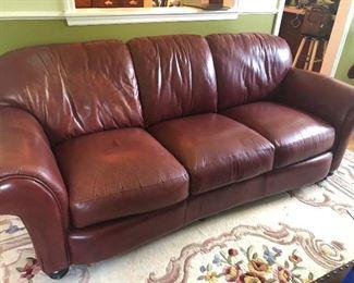 Leather sofa  195.00