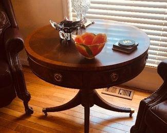 Mahogany drum table 95.00
