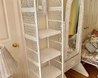 $120 Wicker arched shelf and $120 mirror