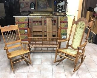 Rocking chairs & Cradle