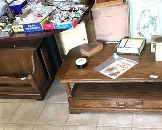 Nice coffee table with storage and shelf and side table with Magazine/Book storage