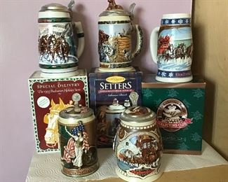 More collectible Budweiser Steins