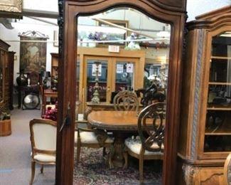 French oak armoire 8'6H X 46W   Est $2900 Bid $450