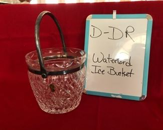 D-DR-9  $40  Waterford Ice Bucket