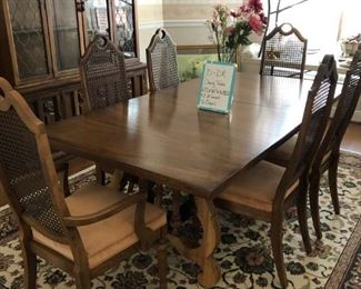 """D-DR-1   $375  97""""Lx42""""Wx29.5""""H w/6 Chairs"""